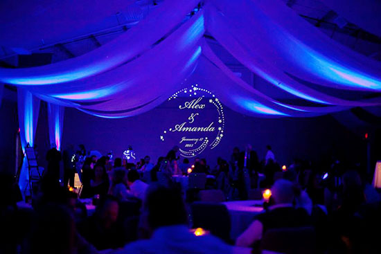Wedding Uplighting and a Gobo DIY